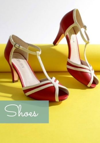 Vintage inspired shoes, vintage style shoes, Pinup shoes