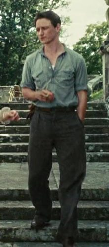 1930s rolled sleeves shirt, belt, trousers in Atonement