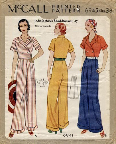 Vintage Wide Leg Pants 1920s to 1950s History