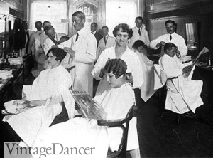 1920s barber shop salon