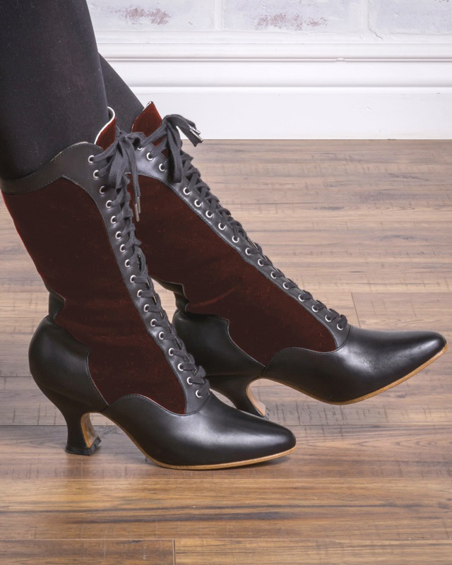 1920s Style Shoes Camille Boots by American Duchess $199.00 AT vintagedancer.com