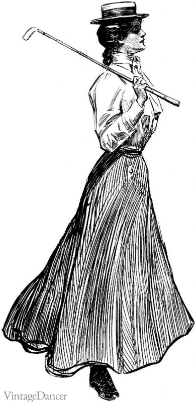 A 'Gibson Girl' illustration by Charles Dana Gibson