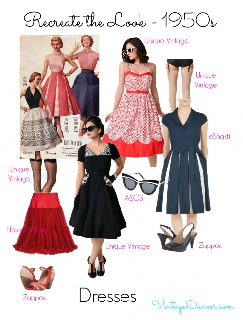 Add a petticoat underneath your 1950s style dress for extra fullness!