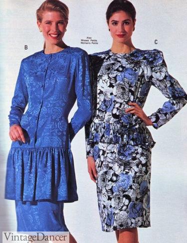 80s dress fashions drop waist party dresses peplum dress