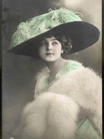 Edwardian postcard tea hat