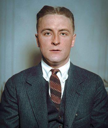F Scott Fitzgerald wears a knit skinny tie 1920s mens fashion suit hair shirt