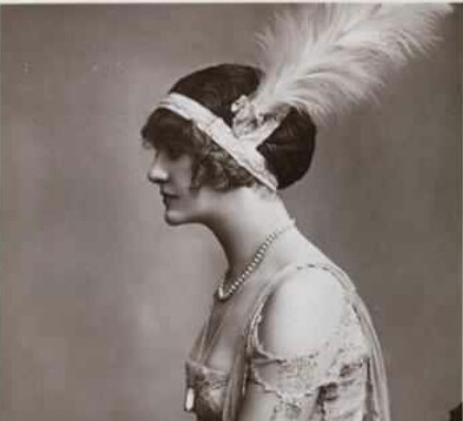 1919 headband with tall feather