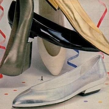 1987 metallic ballet flats