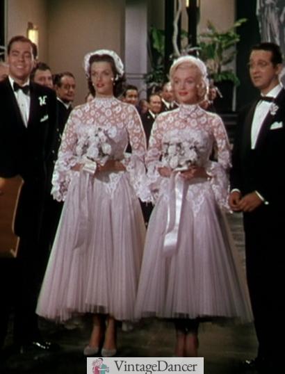 Gentlemen prefer blondes 50's wedding dress
