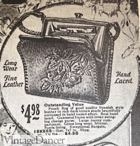 1920s handbang leather tooled