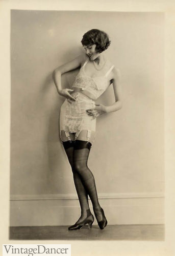 1920s underwear Bra and girdle corselet