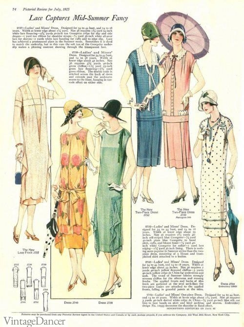 1925, dresses idea for church or afternoon garden party