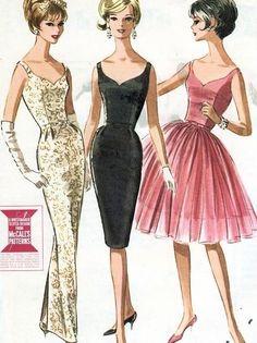 1960s vintage evening dresses