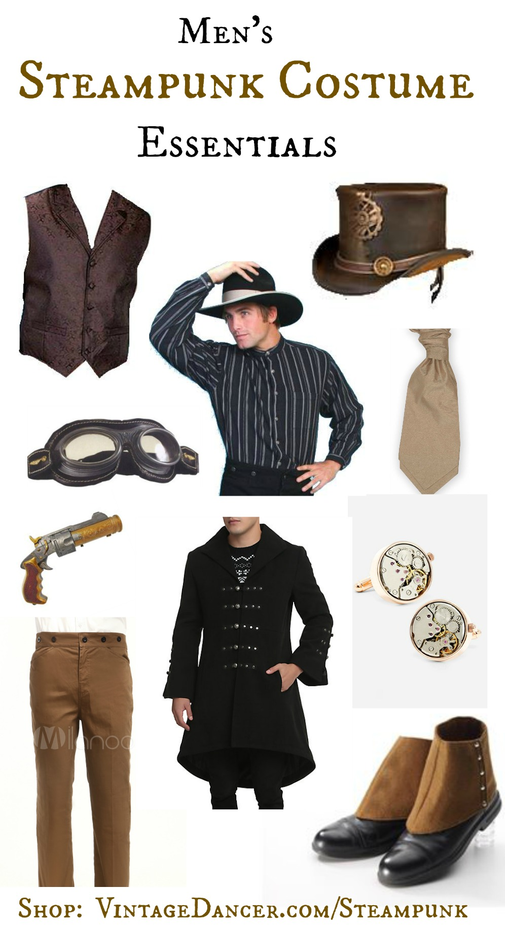 Men S Steampunk Costume Essentials