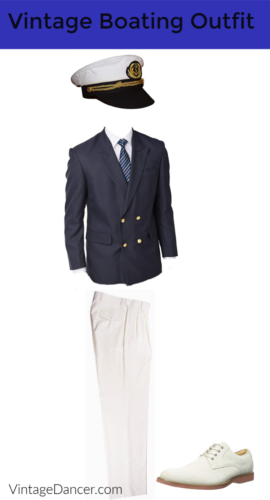 Men's classic vintage boating/yachting outfit 19110s, 1910s, 1920s, 1930s, 1960s