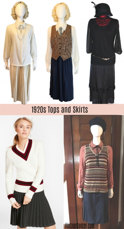 non flapper clothing, costume outfit ideas