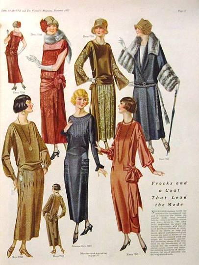 1923 Tea Gowns or Formal Day Dresses