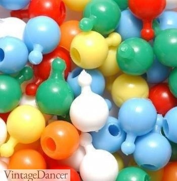 1950s Pop It beads in a rainbow of colors