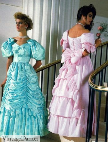 80s prom dresses Victorian ballgowns