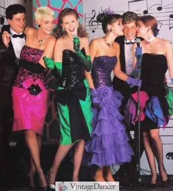 1989 colorful prom dresses