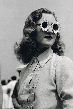 1930s flower petal sunglasses