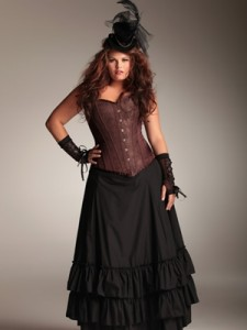 plus size corset and skirt