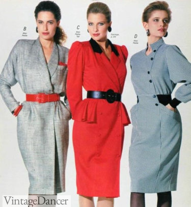80s fashion power suits