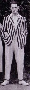 Boating jacket with white pants and shoes 1920s