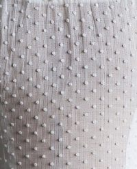 1930s swiss dot white fabric textile