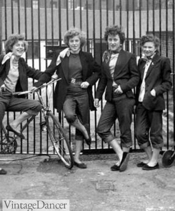 Teddy Girls- the inspiration for Greaser girl style