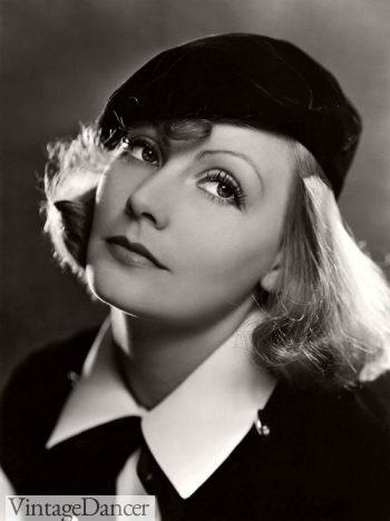 Greta Garbo straight pageboy hairstyle 1930s